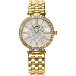 SO&CO New York Women's Lenox Quartz Stainless Steel Bracelet Crystal Watch