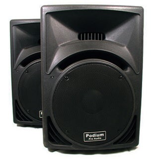 Podium Pro PP1510 PA DJ Karaoke Band 15-inch ABS Plastic 1800W 2-way Speaker Pair PP1510-PR
