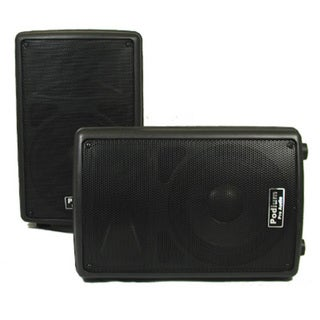 Podium Pro PP802A Karaoke PA DJ Band 8-inch Powered Active 800-watt Speaker Pair PP802A-PR