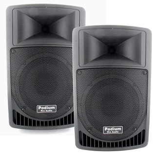Podium Pro PP806A Battery Powered 8-inch Active Speaker Pair with MP3 Player 800W PP806A-PR