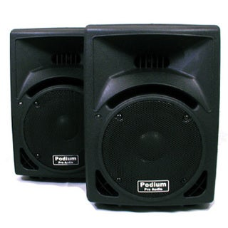 Podium Pro PP810 PA DJ Karaoke 500-watt Two-way ABS Plastic Speaker Pair PP810-PR