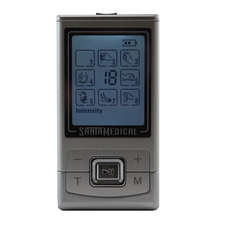 Santamedical PM-180 TENS Unit Electronic Pulse Massager with 8 Modes and Rechargeable Battery