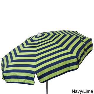 Euro 6-foot Bistro Stripe Umbrella