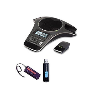 Vtech Erisstation Conference Phone with (2) Wireless Mics + 8 GB Accessory Bundle