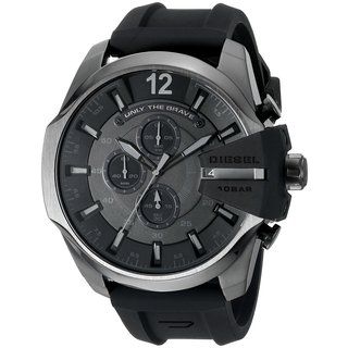 Diesel Men's DZ4378 Chief Chronograph Black Dial Black Silicone Watch