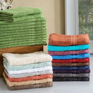 Miranda Haus Eco Friendly Cotton Soft and Absorbent Face Towel (Set of 12)