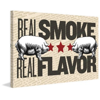 Marmont Hill - 'Real Smoke, Real Flavor' Painting Print on Canvas