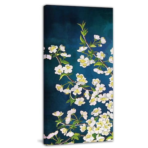 Marmont Hill - 'White in Blue' Painting Print on Canvas - Multi-color