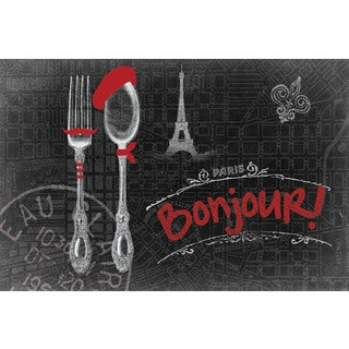 Marmont Hill - 'Bonjour!' Painting Print on Canvas