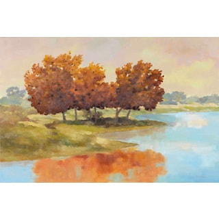Marmont Hill - 'Lyndhurst Water II' by Michael Woodward Painting Print on Canvas