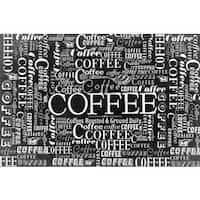 Marmont Hill - 'Coffee Pattern' Painting Print on Canvas - Multi-color