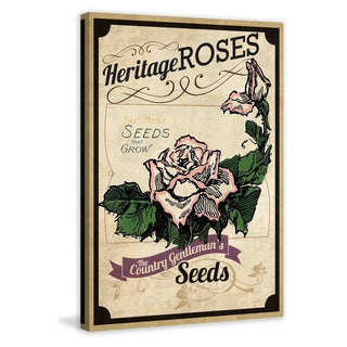 Marmont Hill - 'Flower Packet Roses' Painting Print on Canvas