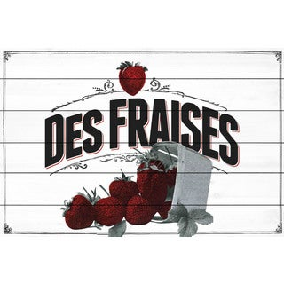 Marmont Hill - 'French Produce Strawberry' Painting Print on White Wood