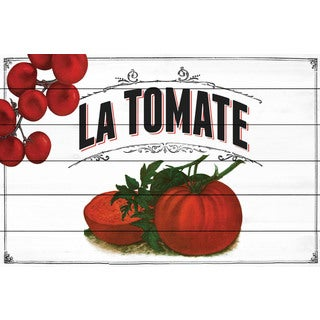 Marmont Hill - 'French Produce Tomato' Painting Print on White Wood