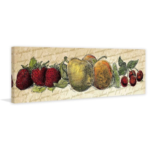 Marmont Hill - 'Fruit and Veg A' Painting Print on Canvas - Multi-color