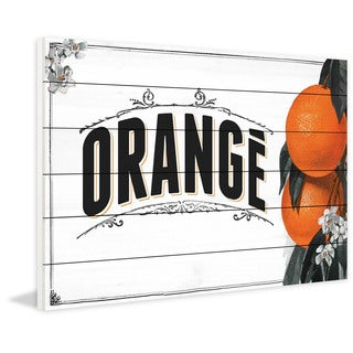 Marmont Hill - 'French Produce Orange' Painting Print on White Wood