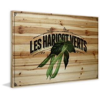 Marmont Hill - 'French Produce Beans' Painting Print on Natural Pine Wood