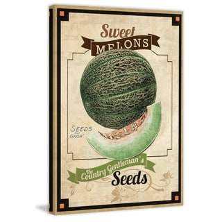 Marmont Hill - 'Seed Packet Melon' Painting Print on Canvas