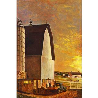 Marmont Hill - 'Barnyard' Painting Print on Canvas