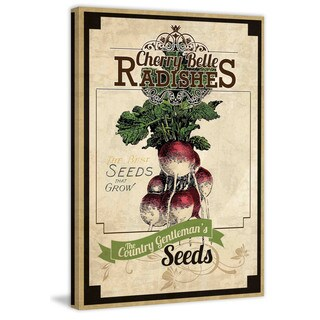 Marmont Hill - 'Seed Packet Radishes' Painting Print on Canvas - Multi-color