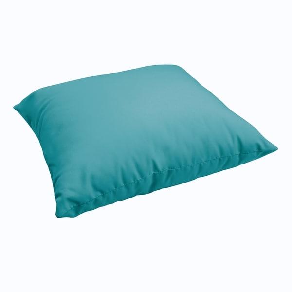 Sloane Aqua Blue 26 Inch Indoor Outdoor Floor Pillow On Free Shipping Today 11165627
