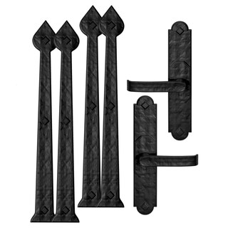 Cre8tive Hardware Rustic Aspen Magnetic Garage Door Hardware Set (6 piece)