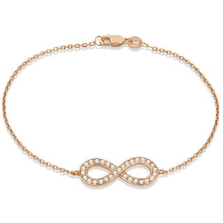14k Gold 0.40ct Diamond Sideways Large Infinity Bracelet (G-H, SI1-SI2)