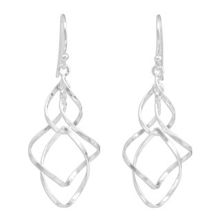 Handmade Sterling Silver 'Whirling Wind' Earrings (Thailand)