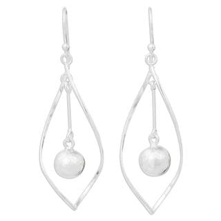 Handcrafted Sterling Silver 'Captive Pendulums' Earrings (Thailand)