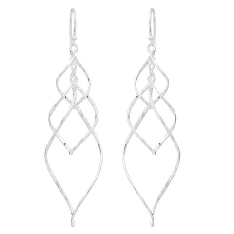 Handmade Sterling Silver 'Forever Linked' Earrings (Thailand)