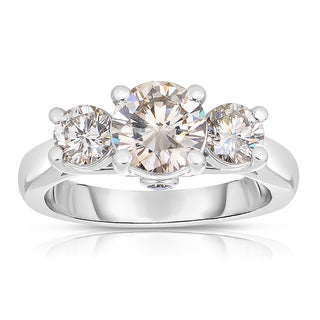 Eloquence 14k White Gold 2ct TDW Diamond Three-Stone Engagement Ring (K-L, SI1-SI2)