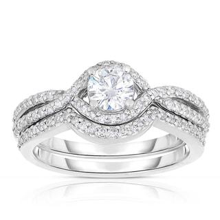 Eloquence 14k White Gold 9/10ct TDW Diamond Multi-Row Bridal Set (H-I, I1-I2)