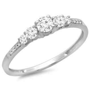 Elora 14k White Gold 2/5ct TDW Diamond Bridal 5-stone Engagement Ring (H-I, I1-I2)