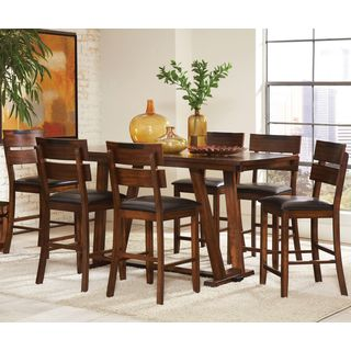 Sangarie Achitectural Hand Crafted Design Counter Height Dining Set with Two Tone Detail