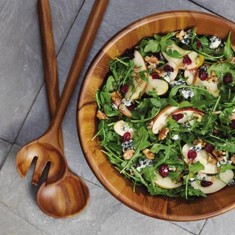 Anolon(r) Pantryware 3-Piece Teak Wood Salad Serving Set
