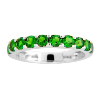 Sterling Silver and Chrome Diopside Ring