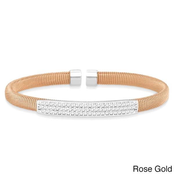 14k Gold Milgrain Diamond Bolo Bracelet 1.00ct