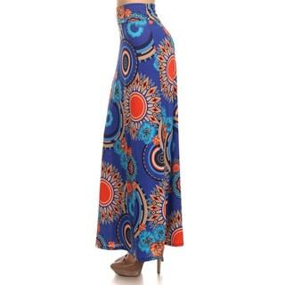 Moa Collection Women's Medallion Floral Maxi Skirt