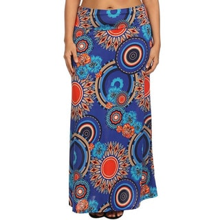 Moa Collection Women's Plus Size Medallion Maxi Skirt