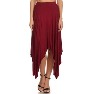 MOA Collection Women's High Waist Relaxed Skirt