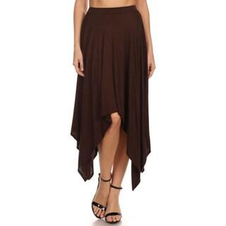 MOA Collection Women's High Waist Relaxed Skirt