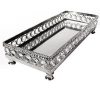Heim Concept Sparkle Vanity Mirror Tray with Beaded Crystals