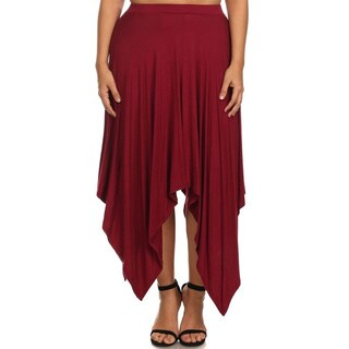 MOA Collection Plus Size Women's High Waist Skirt