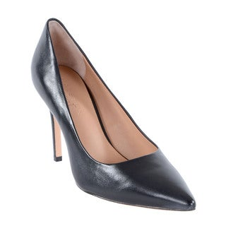 Halston Heritage Courtney Black Leather Pumps