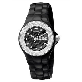 TechnoMarine Ladies Black Ceramic Dial Cruise Watch|https://ak1.ostkcdn.com/images/products/11165814/P18160795.jpg?impolicy=medium