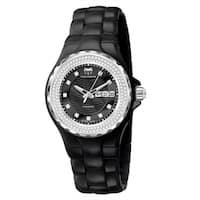 TechnoMarine Women's  'Cruise' Diamond Black Ceramic Watch