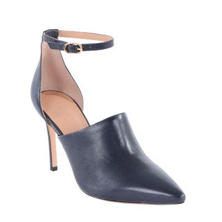 Halston Heritage Chloe Blue Leather d'Orsay Pump