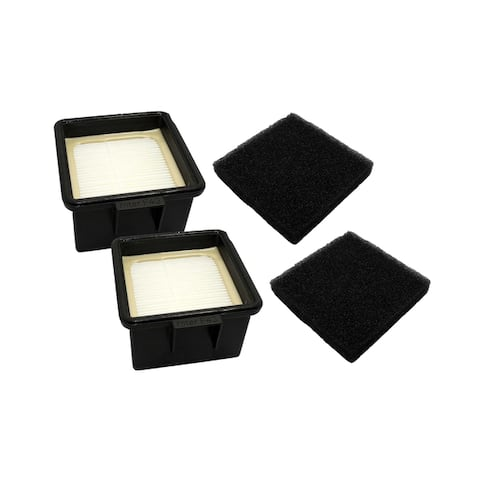 2pk Replacement F43 HEPA Style Filters & Foams, Fits Dirt Devil, Compatible with Part 2PY1105000 & 1PY1106000