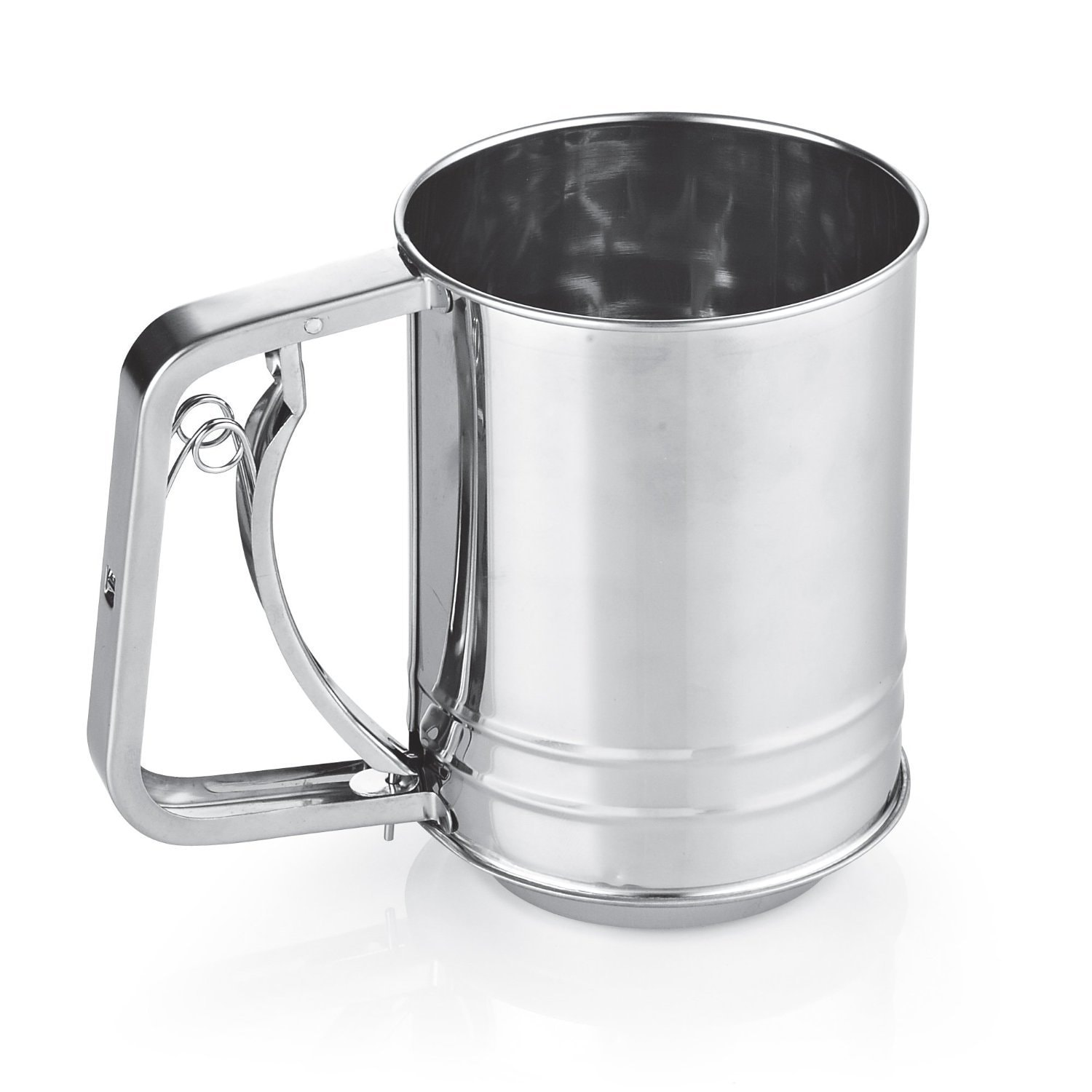 Cook N Home 3-Cup Stainless Steel (Silver) Flour Sifter (...
