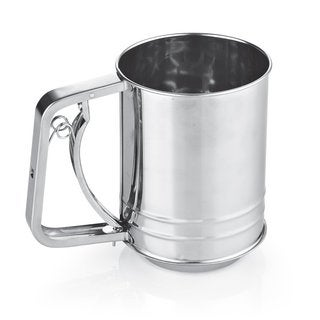 Cook N Home 3-Cup Stainless Steel Flour Sifter